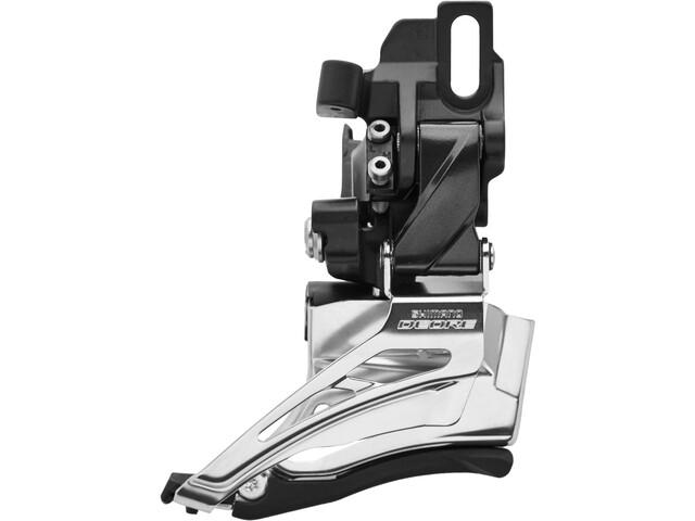 Shimano Deore MTB FD-M6025 Forskifter 2x10-speed Down Swing Direct Mount høj sort/sølv (2019) | Front derailleur